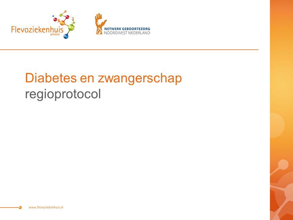 Diabetes en zwangerschap regioprotocol