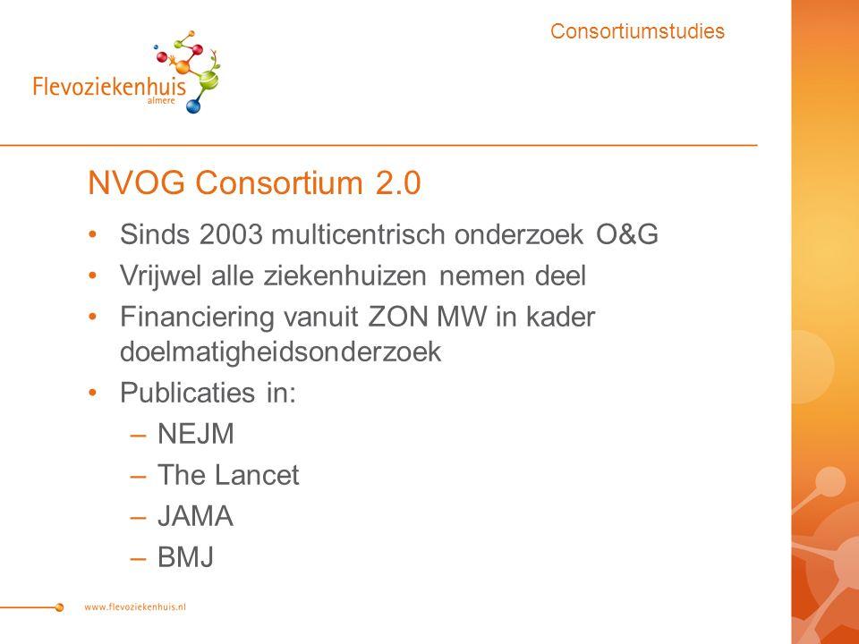 NVOG Consortium 2.0 Sinds 2003 multicentrisch onderzoek O&G