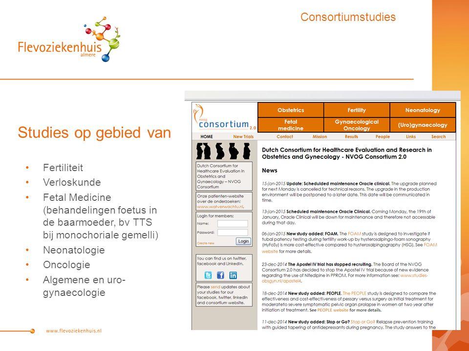 Studies op gebied van Consortiumstudies Fertiliteit Verloskunde
