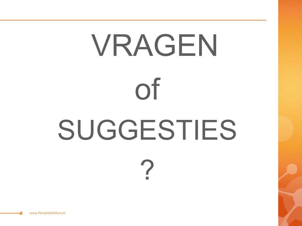 VRAGEN of SUGGESTIES