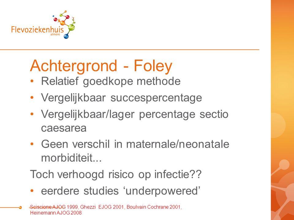 Achtergrond - Foley Relatief goedkope methode