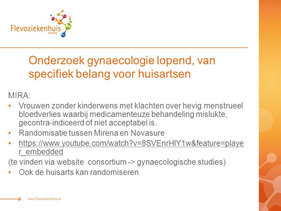 Onderzoek gynaecologie lopend, van specifiek belang voor huisartsen