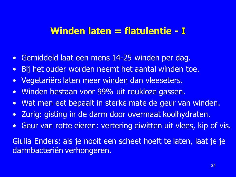 Winden laten = flatulentie - I