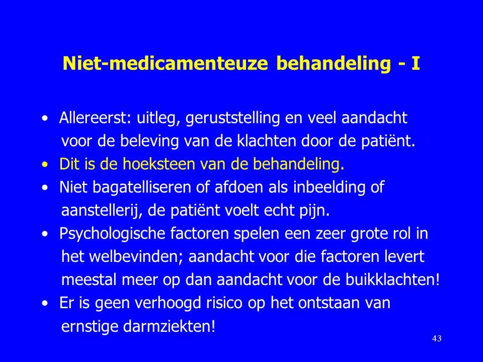 Niet-medicamenteuze behandeling - I