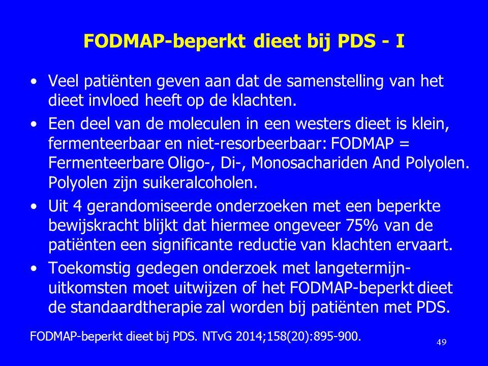 FODMAP-beperkt dieet bij PDS - I