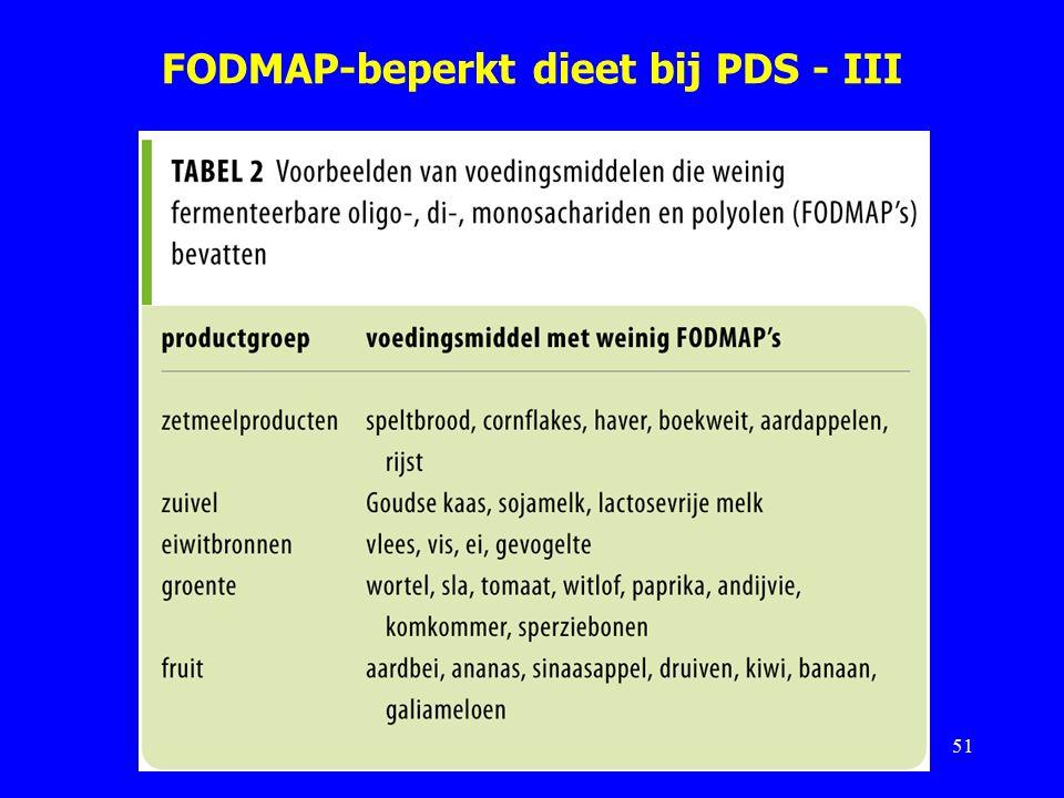 FODMAP-beperkt dieet bij PDS - III