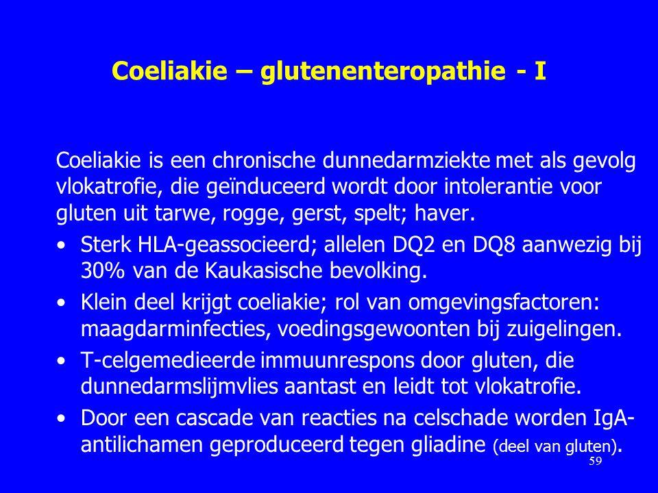 Coeliakie – glutenenteropathie - I