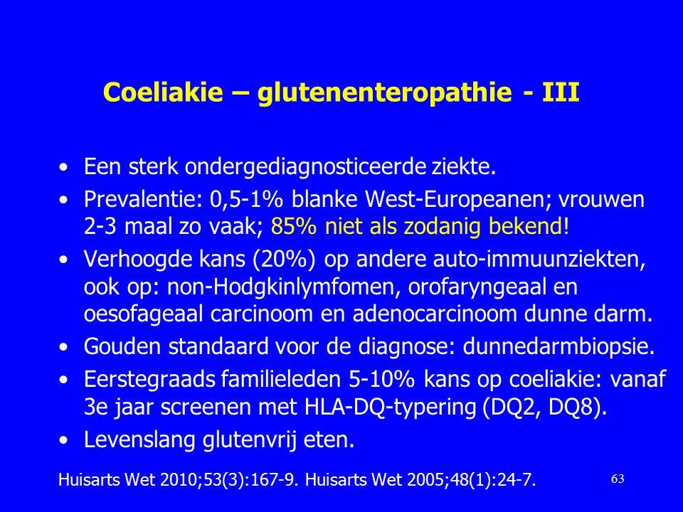Coeliakie – glutenenteropathie - III