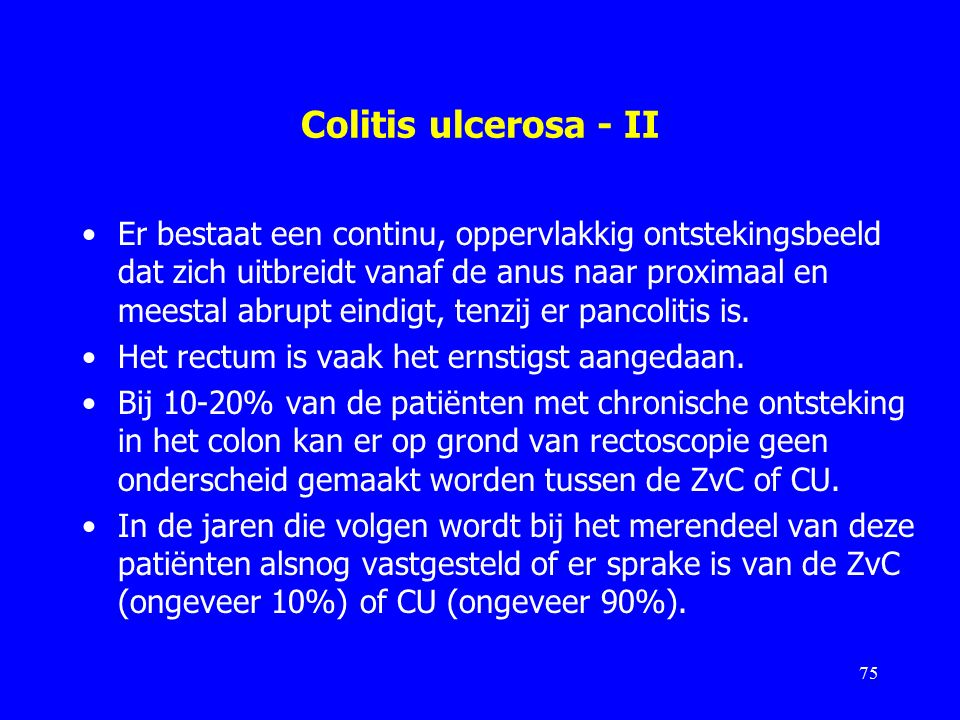 Colitis ulcerosa - II