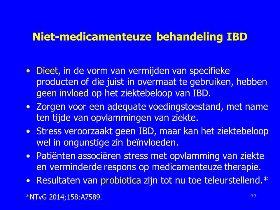 Niet-medicamenteuze behandeling IBD