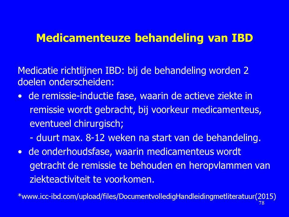 Medicamenteuze behandeling van IBD