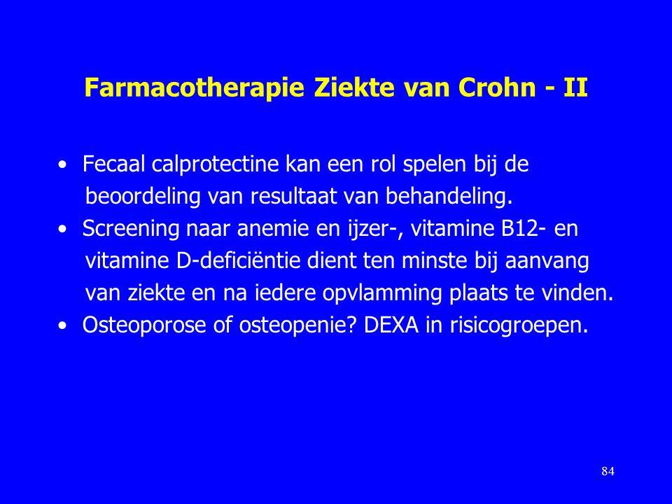 Farmacotherapie Ziekte van Crohn - II