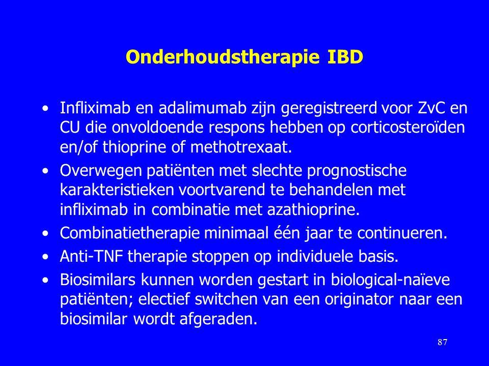 Onderhoudstherapie IBD