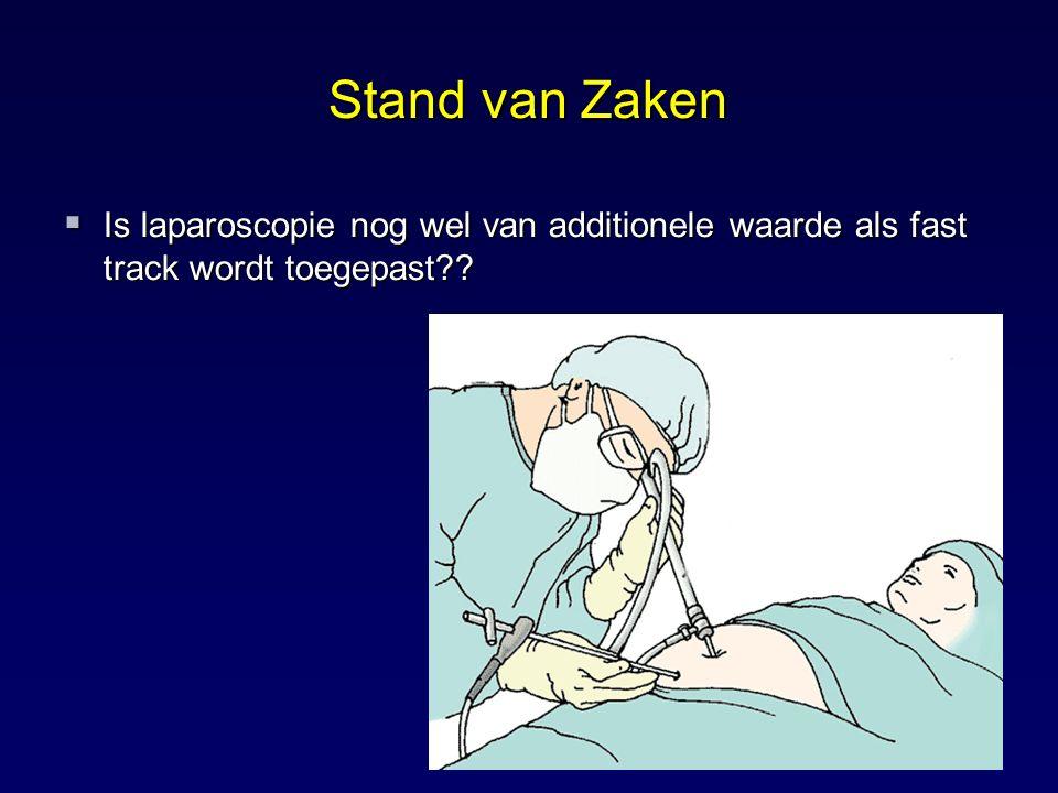 Stand van Zaken Is laparoscopie nog wel van additionele waarde als fast track wordt toegepast