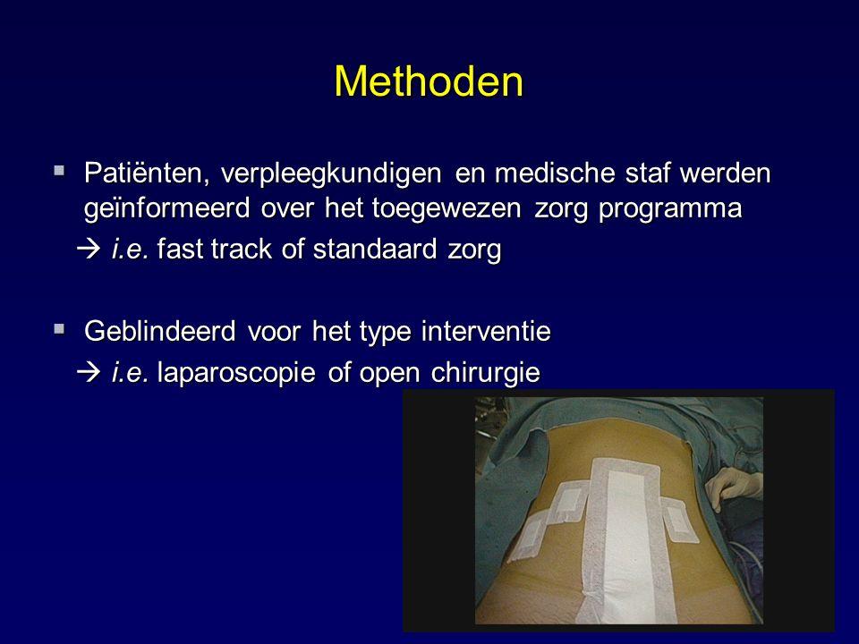 Methoden Patiënten, verpleegkundigen en medische staf werden geϊnformeerd over het toegewezen zorg programma.
