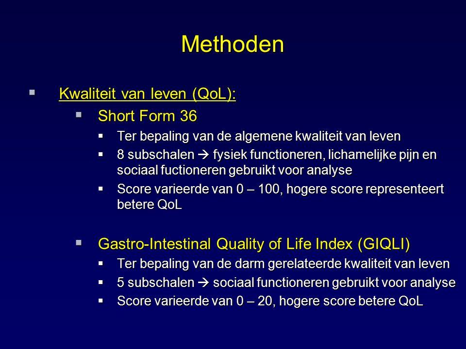 Methoden Kwaliteit van leven (QoL): Short Form 36