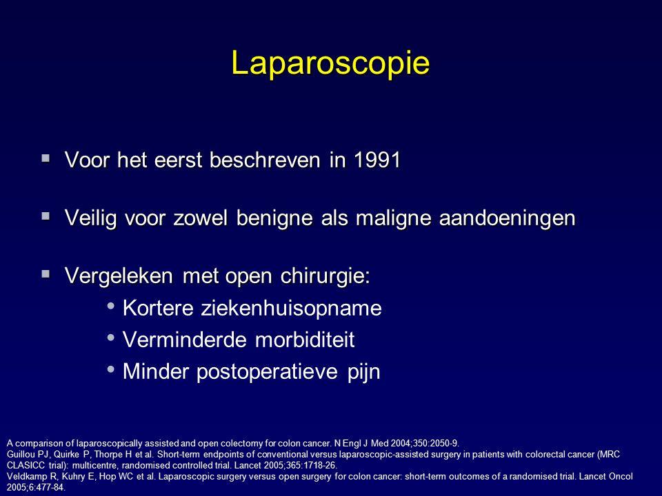 Laparoscopie Voor het eerst beschreven in 1991