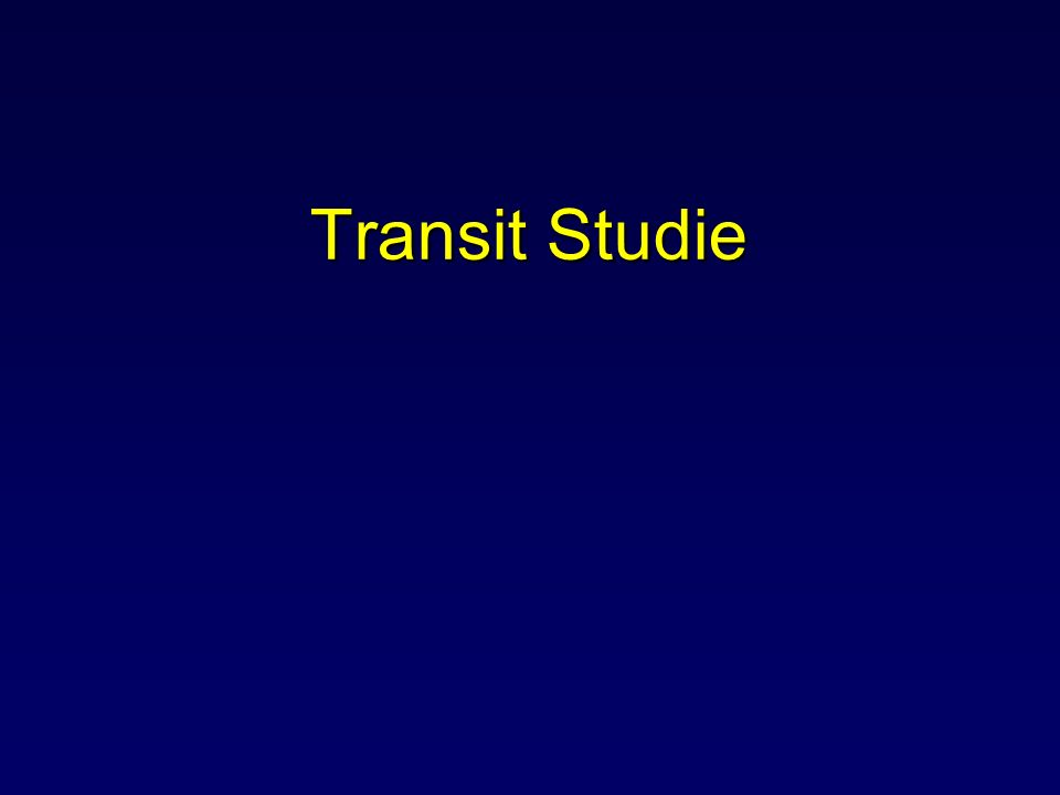 Transit Studie Dit wat betreft de resultaten van de LAFA studie.