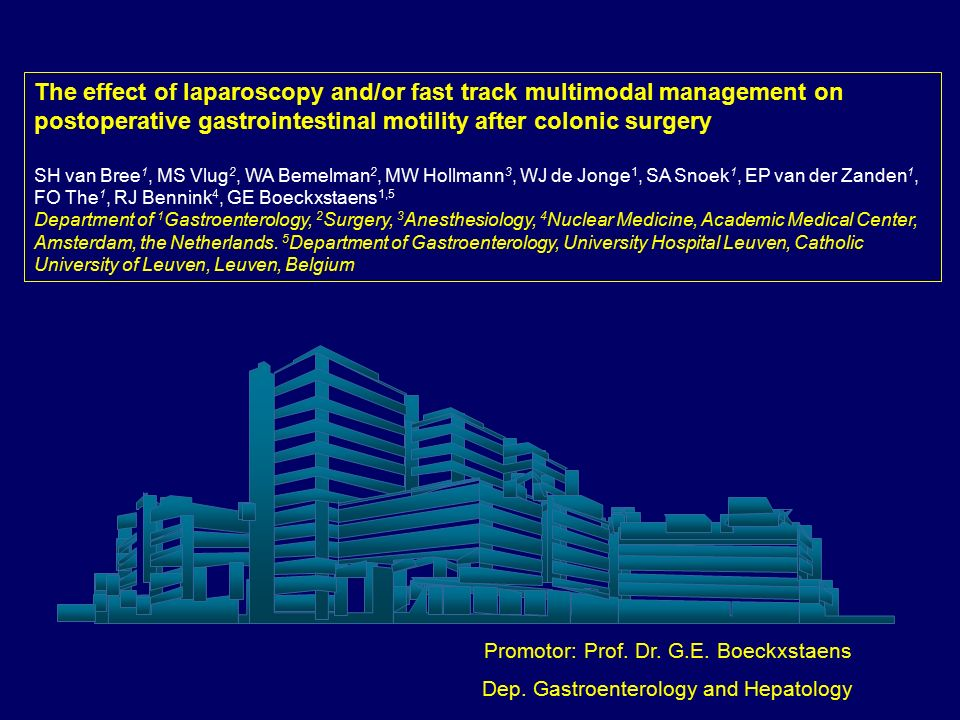 The effect of laparoscopy and/or fast track multimodal management on postoperative gastrointestinal motility after colonic surgery