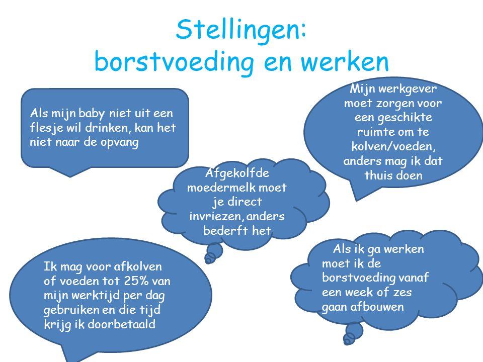 Stellingen: borstvoeding en werken