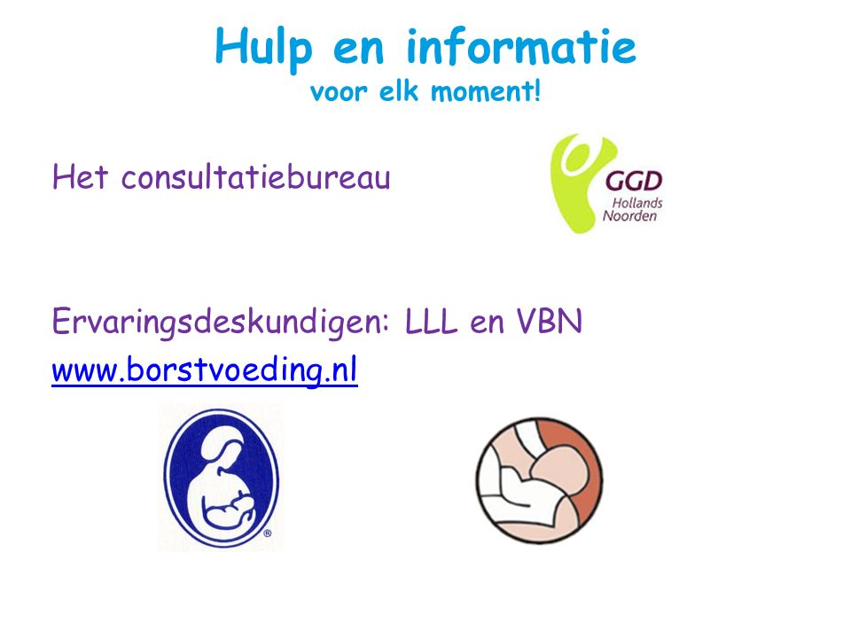 Hulp en informatie voor elk moment!
