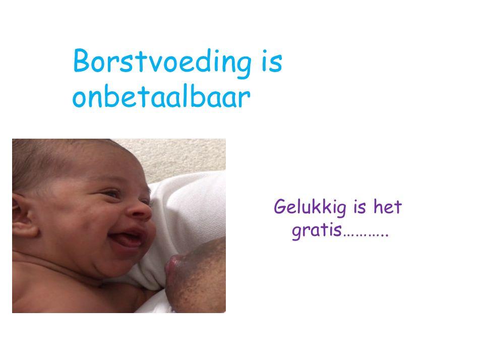 Borstvoeding is onbetaalbaar