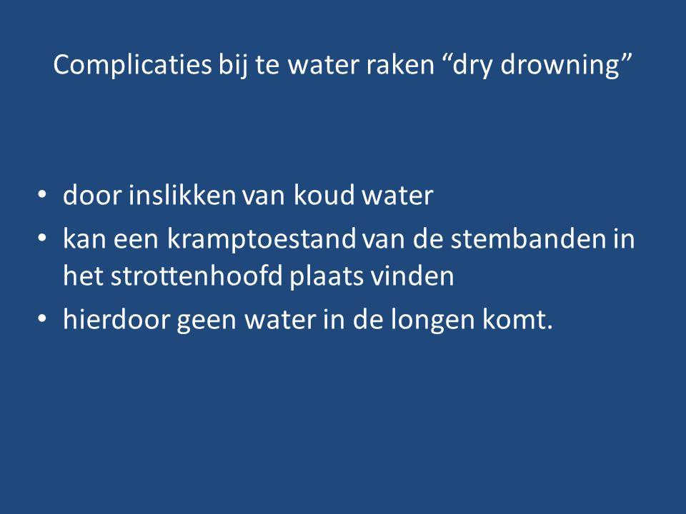Complicaties bij te water raken dry drowning