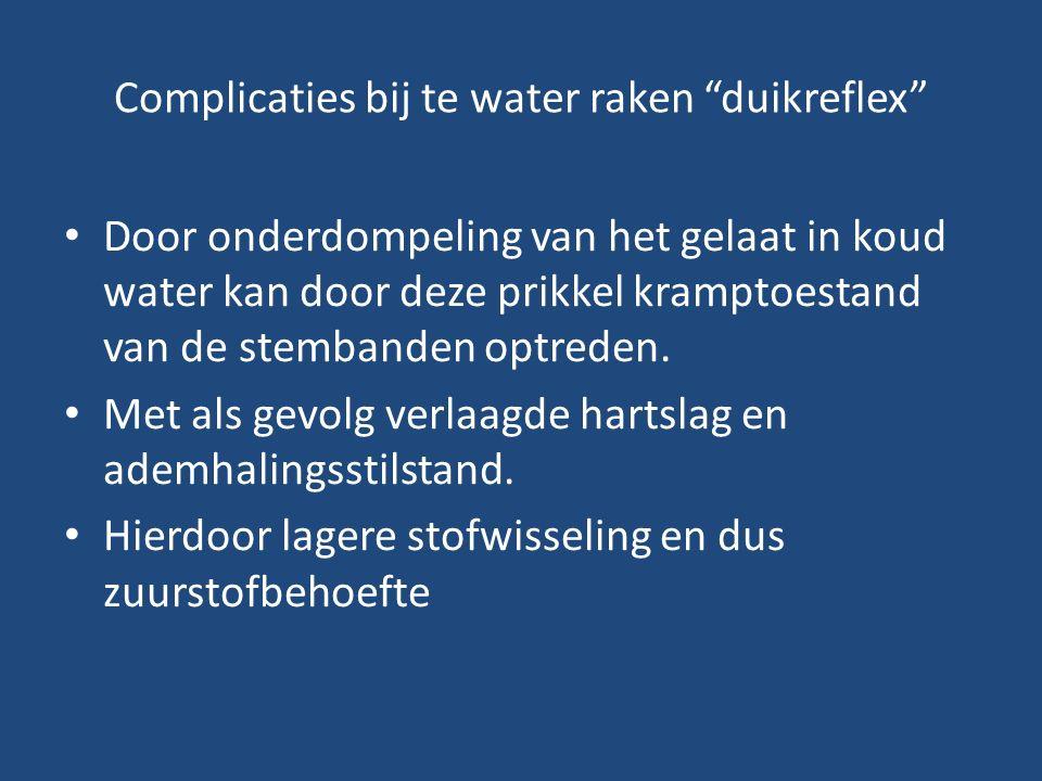 Complicaties bij te water raken duikreflex