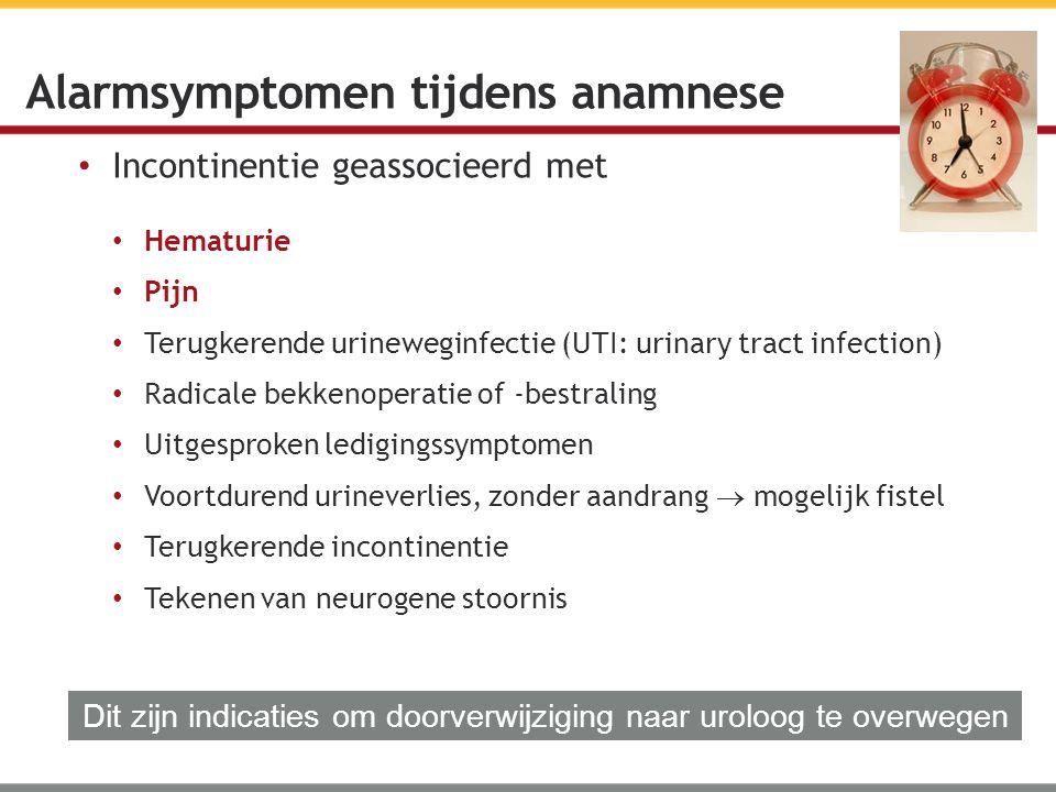 Alarmsymptomen tijdens anamnese