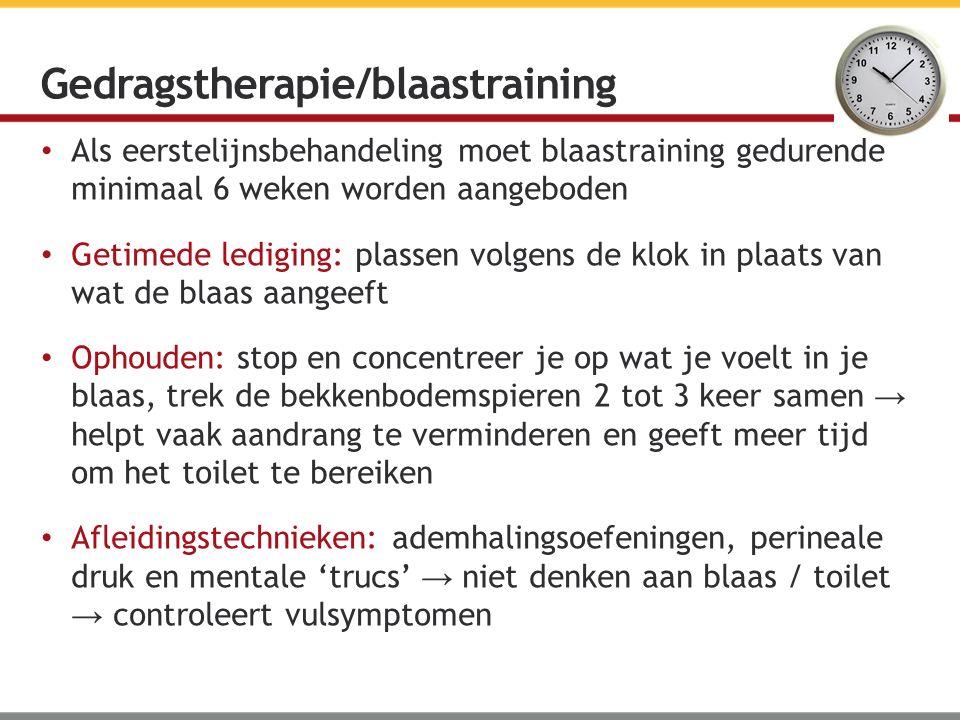 Gedragstherapie/blaastraining