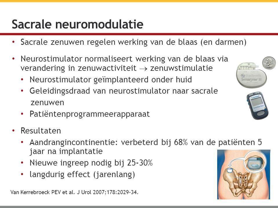Sacrale neuromodulatie