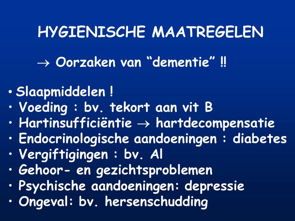 HYGIENISCHE MAATREGELEN