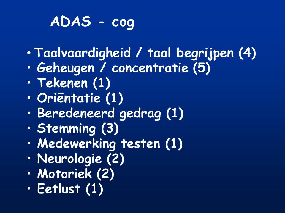 ADAS - cog Taalvaardigheid / taal begrijpen (4)