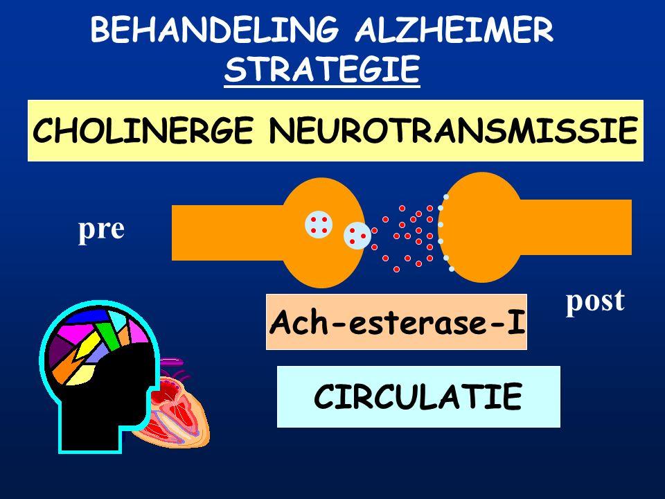 BEHANDELING ALZHEIMER CHOLINERGE NEUROTRANSMISSIE
