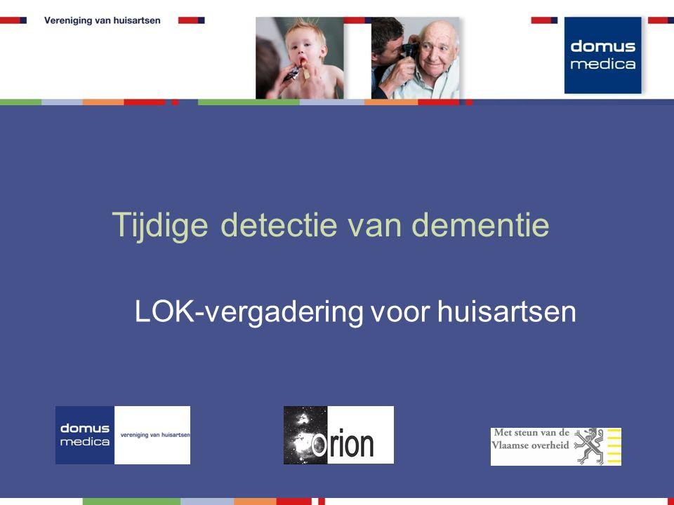 Tijdige detectie van dementie