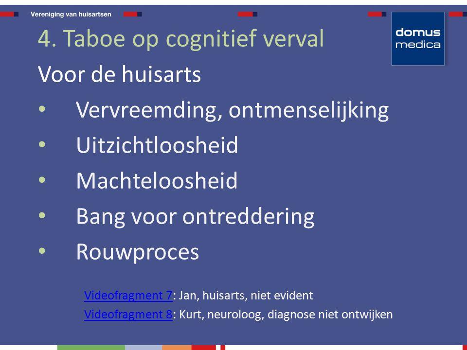 4. Taboe op cognitief verval