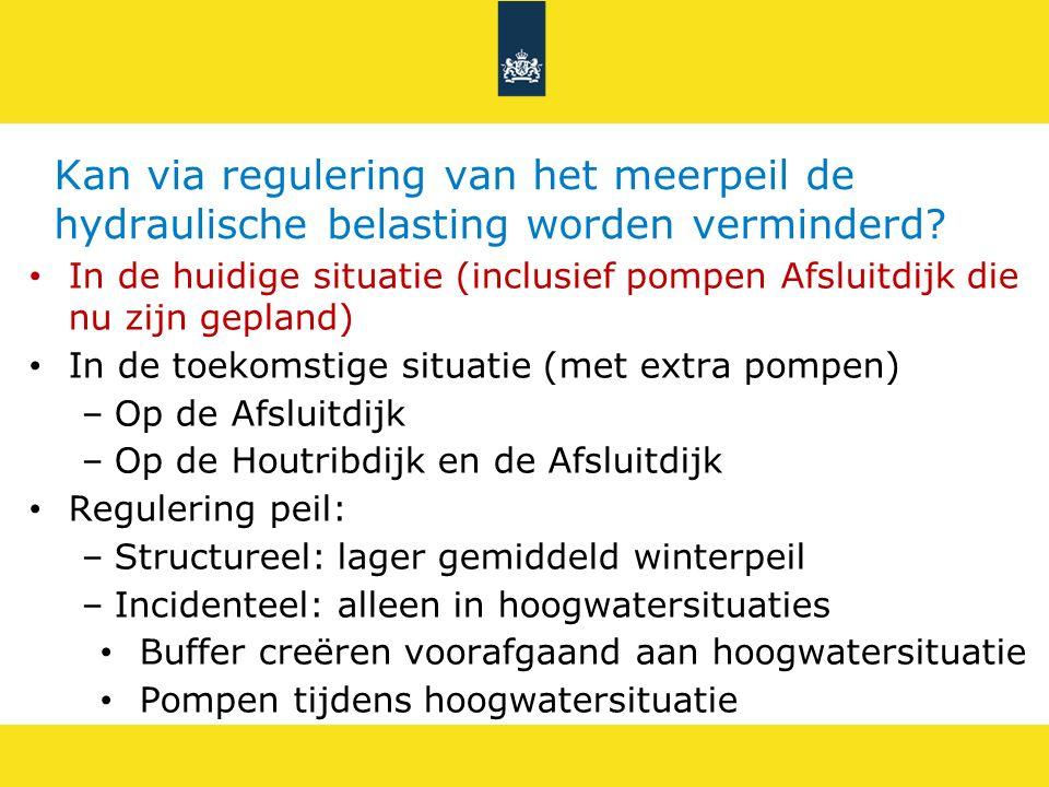Kan via regulering van het meerpeil de hydraulische belasting worden verminderd