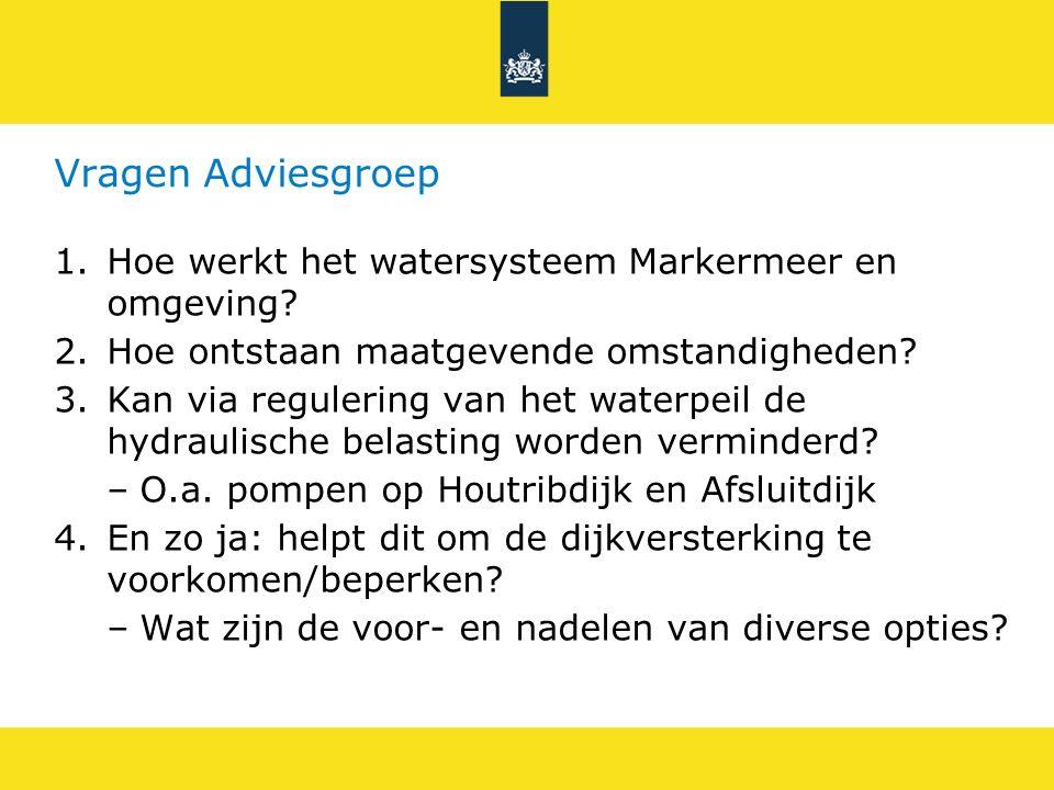 Vragen Adviesgroep Hoe werkt het watersysteem Markermeer en omgeving