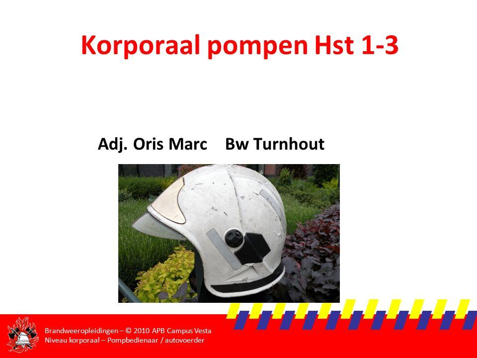 Korporaal pompen Hst 1-3 Adj. Oris Marc Bw Turnhout