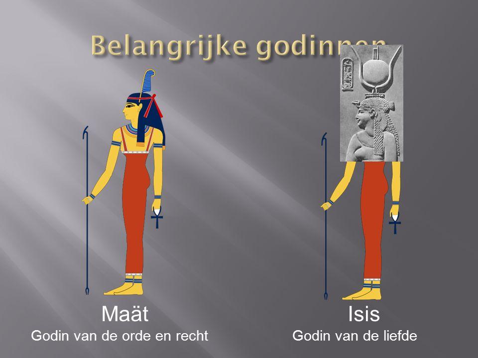 Belangrijke godinnen Maät Isis Godin van de orde en recht