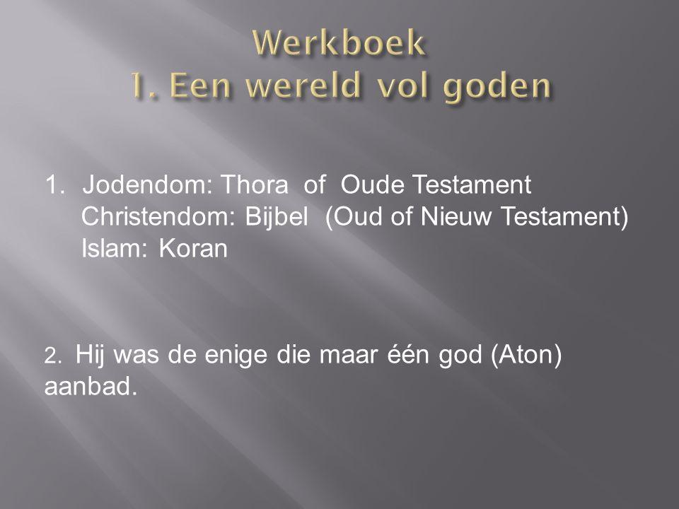 Werkboek 1. Een wereld vol goden