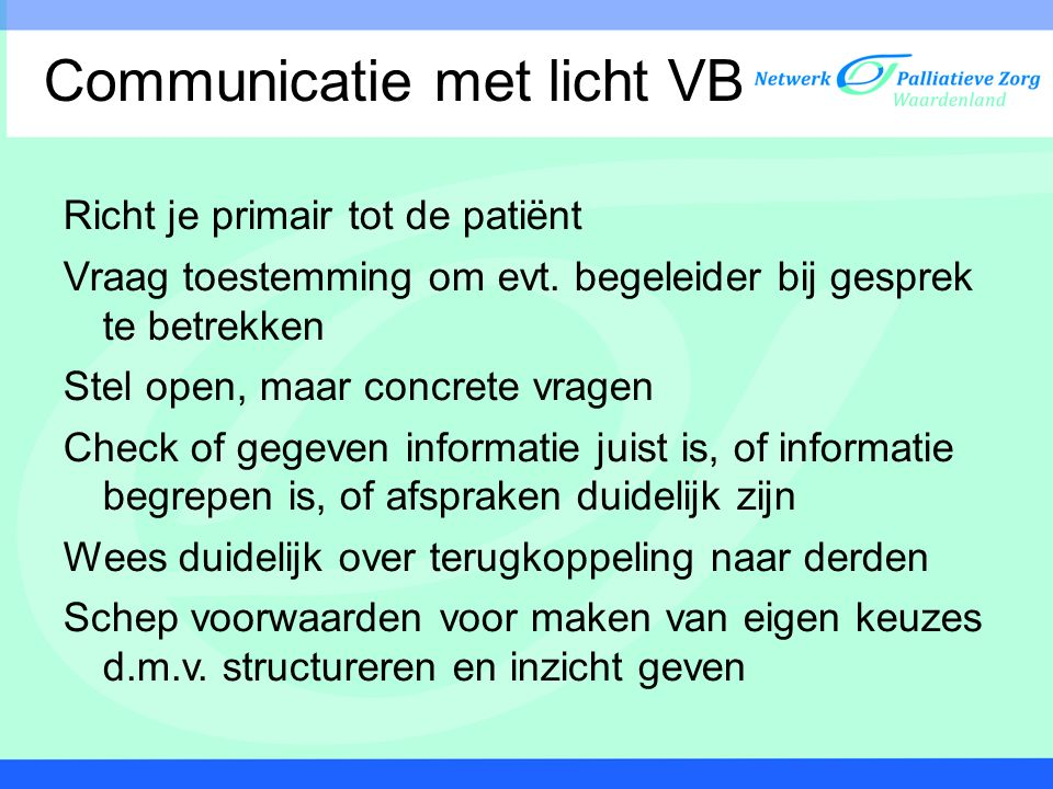 Communicatie met licht VB