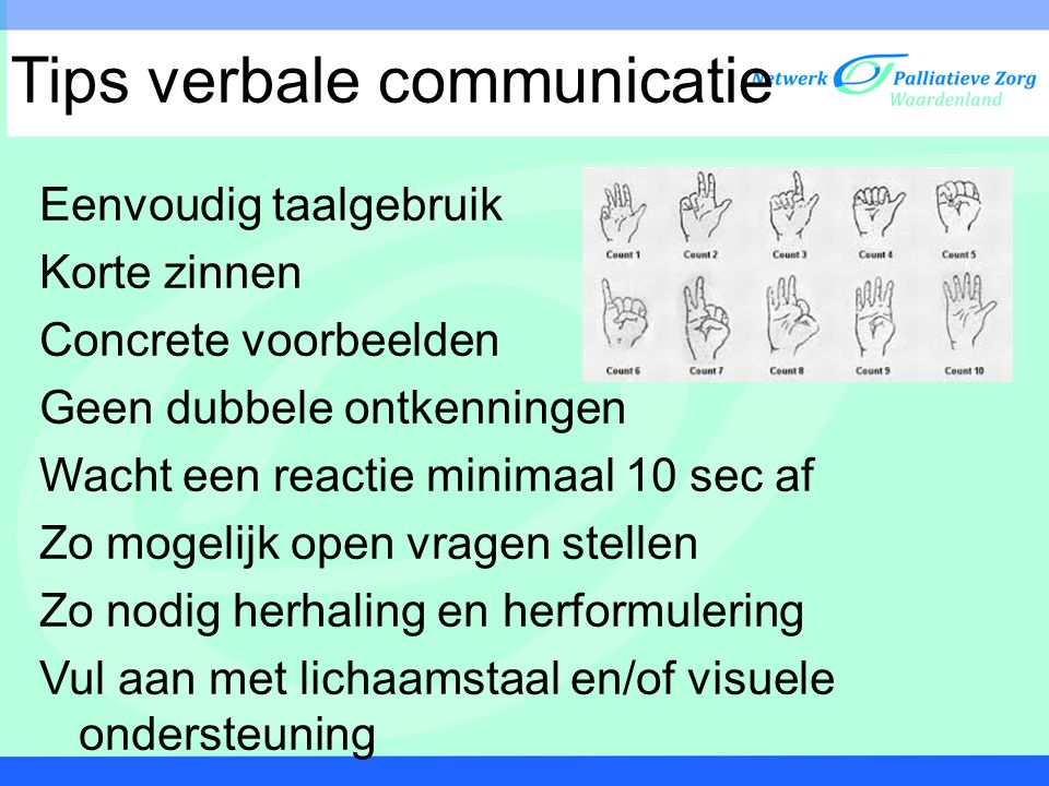 Tips verbale communicatie