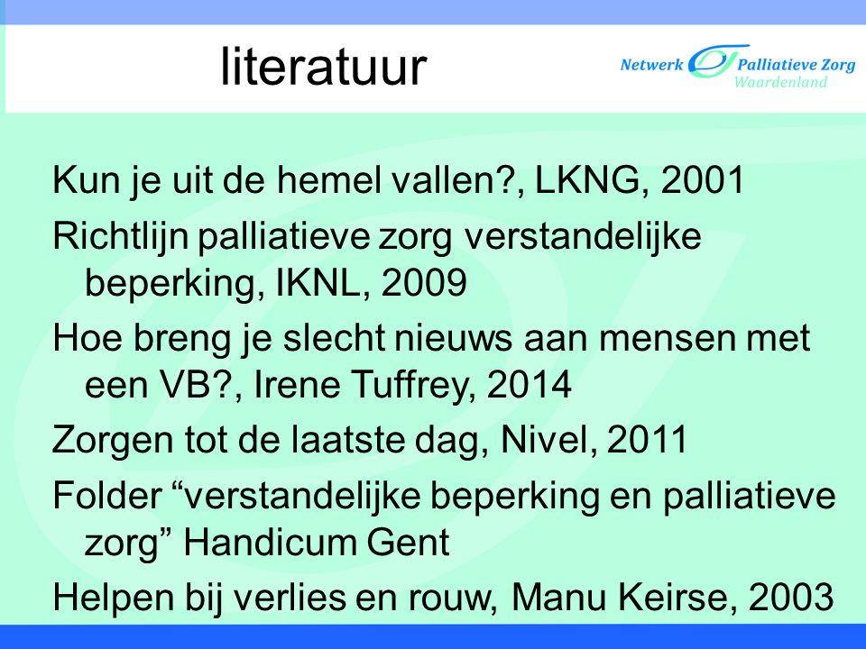 literatuur Kun je uit de hemel vallen , LKNG, 2001