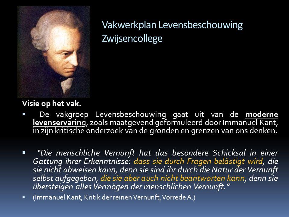 Vakwerkplan Levensbeschouwing Zwijsencollege