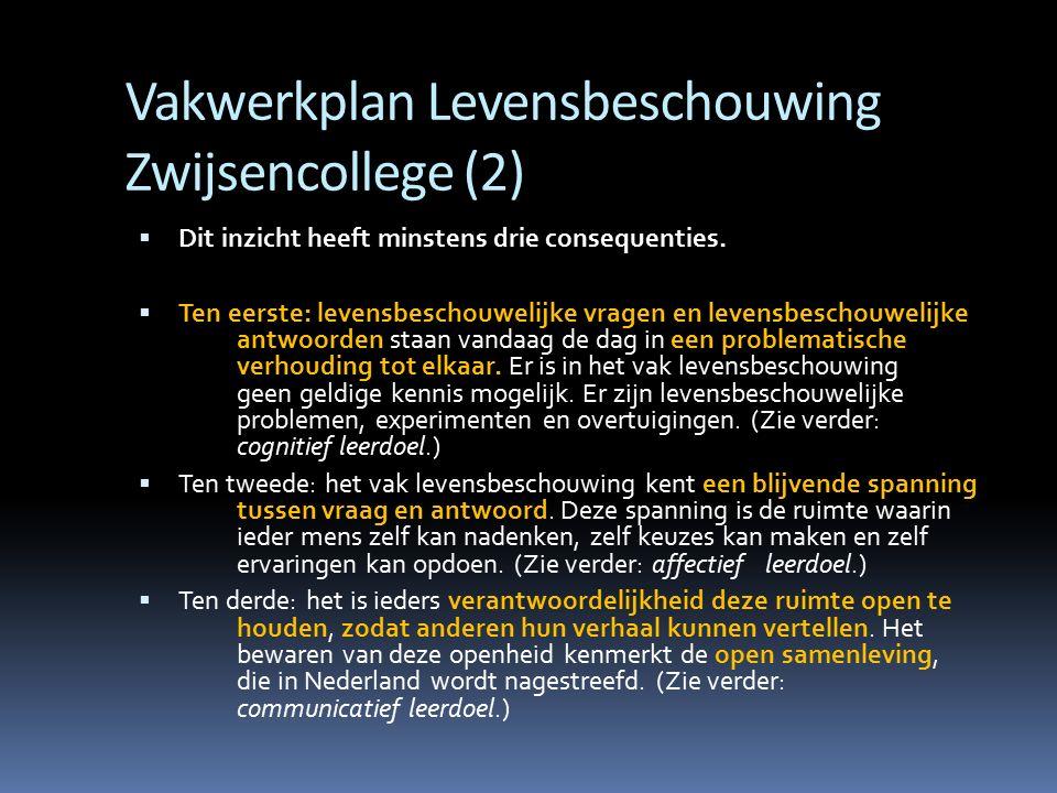Vakwerkplan Levensbeschouwing Zwijsencollege (2)