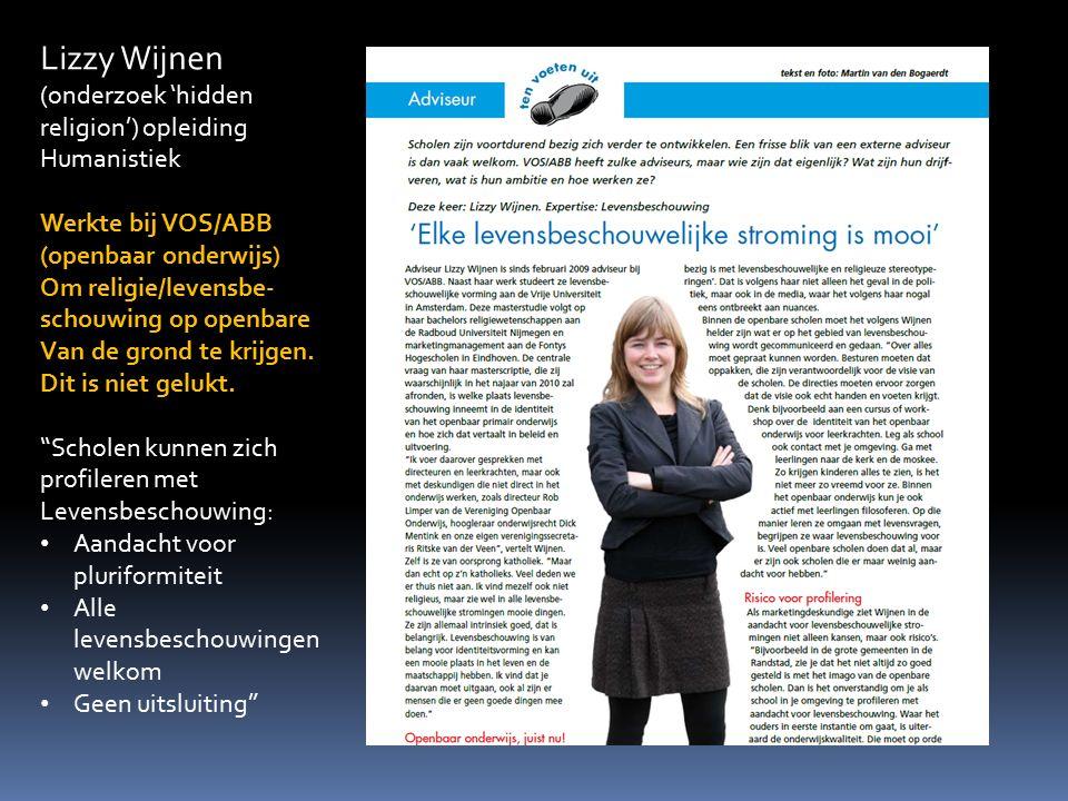 Lizzy Wijnen (onderzoek 'hidden religion') opleiding Humanistiek