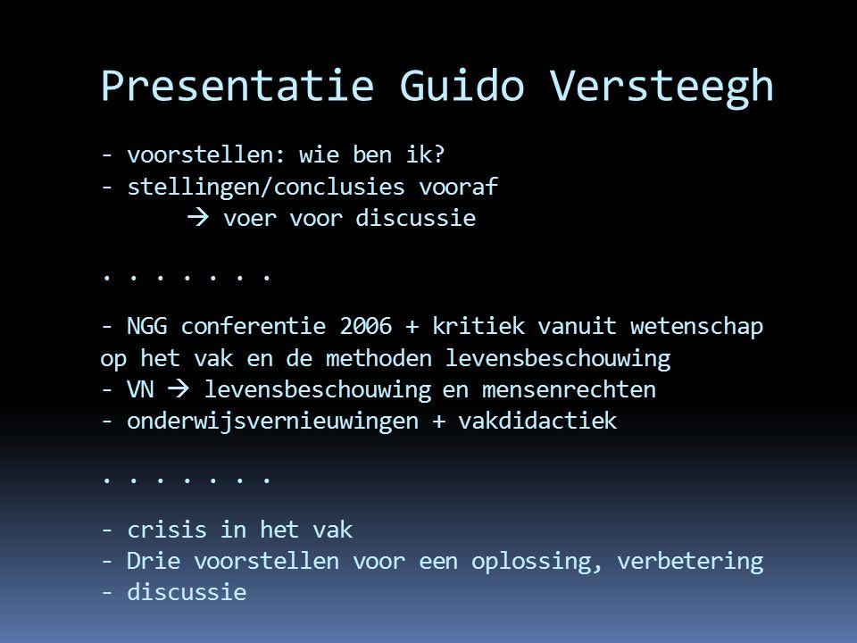 Presentatie Guido Versteegh - voorstellen: wie ben ik
