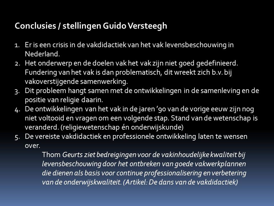 Conclusies / stellingen Guido Versteegh