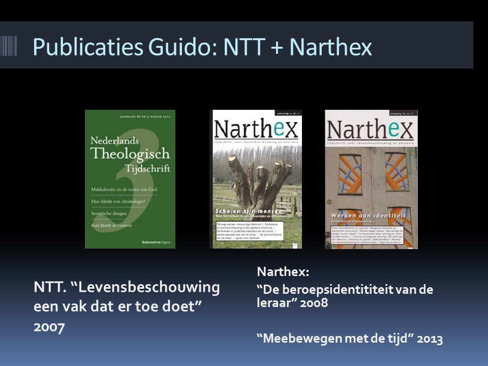 Publicaties Guido: NTT + Narthex